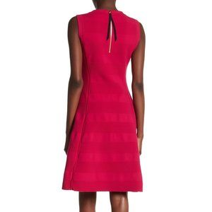 Kate Spade textured stripe fit & flare dress
